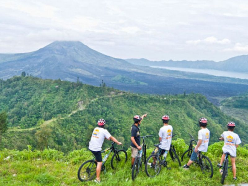 Cycling at Kintamani