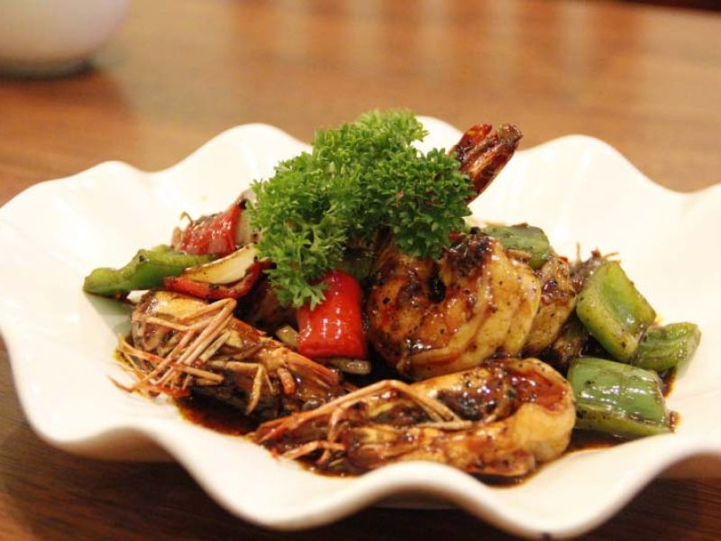 Shrimp with Black Pepper