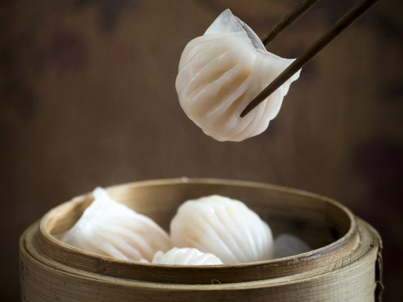 Shrimp Dumpling with Bamboo Shoot