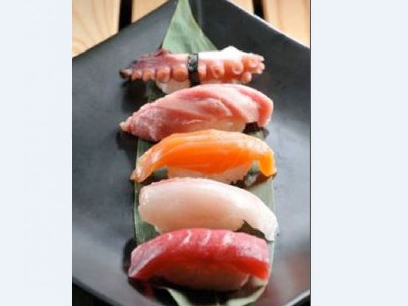 Assorted mixed sushi