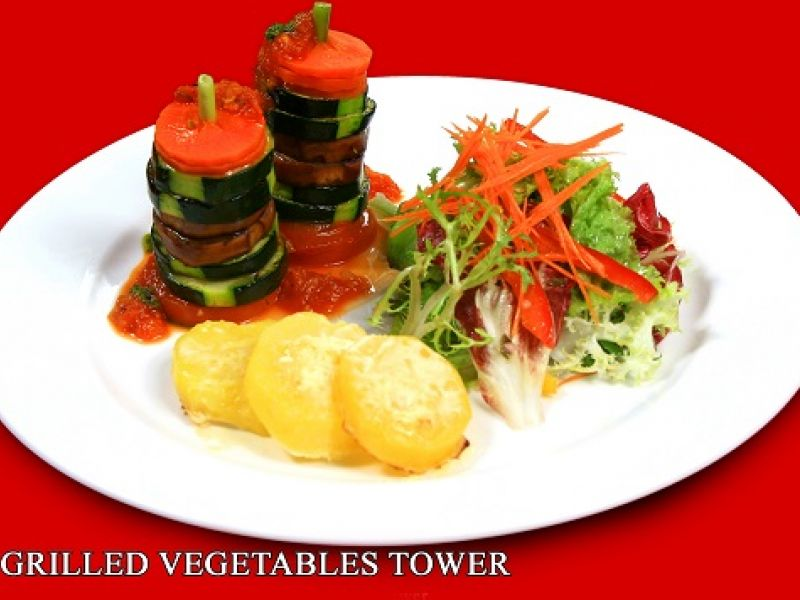 Grilled Vegetable Tower