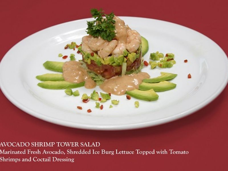 Avocado Shrimp Tower Salad