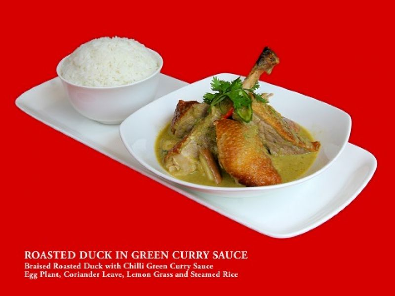 Roasted Duck in Green Curry Sauce