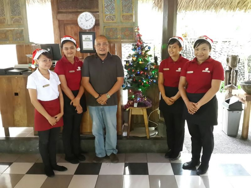Mr. Putu Angka Wijaya with Staff