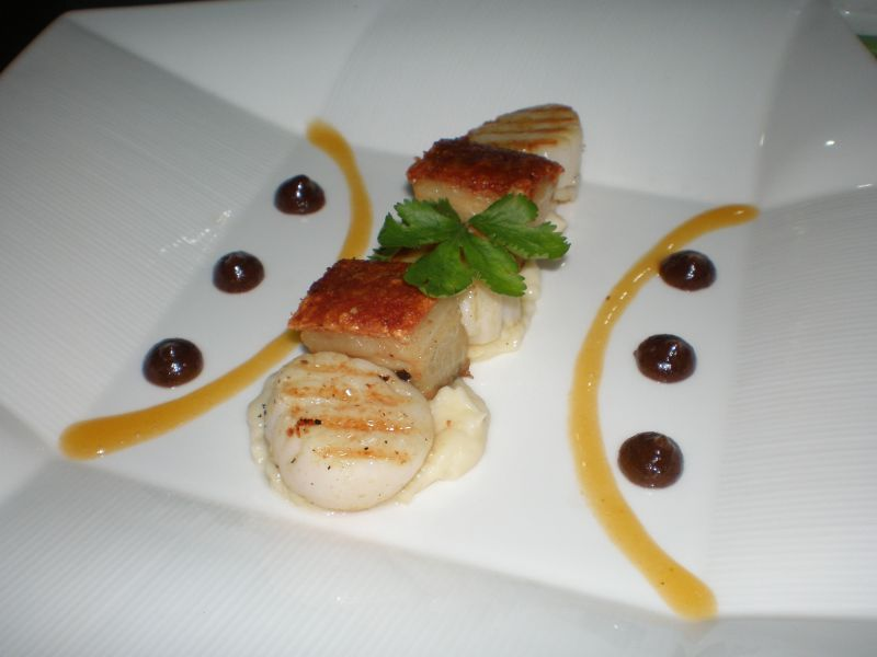 Pork Belly and Scallops