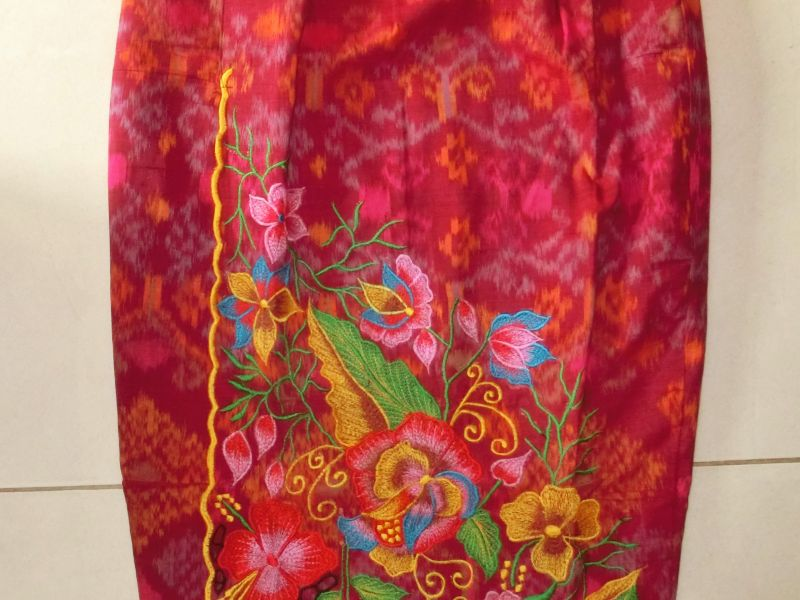 Embroidered Endek Skirt