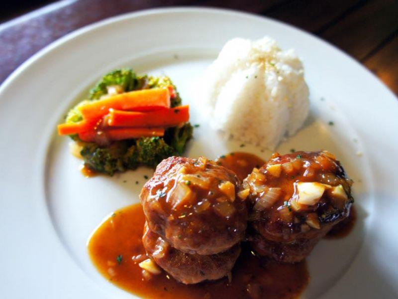 Glazed Hamburger Steak
