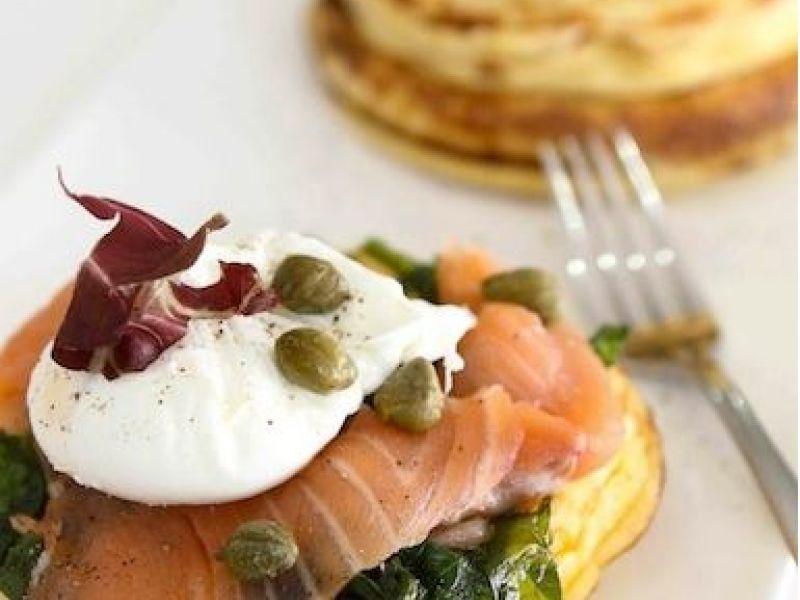 Salmon Savory Pancake