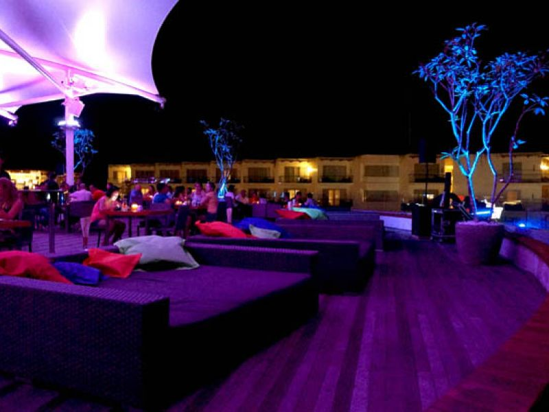 Rooftop seating area