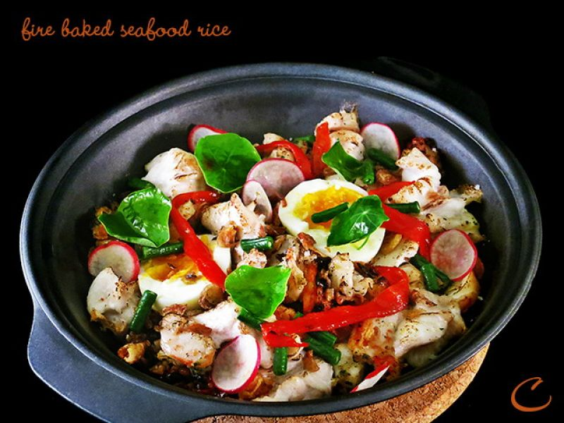 Fire Baked Seafood Rice