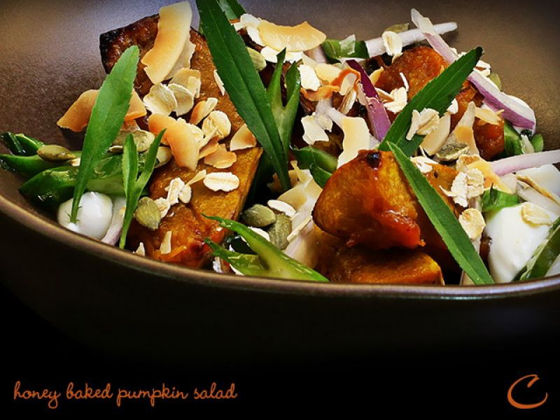 Honey Baked Pumpkin Salad