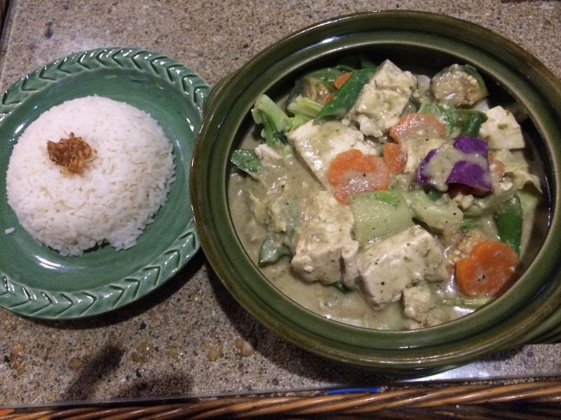 Tofu Vegetables Green Curry