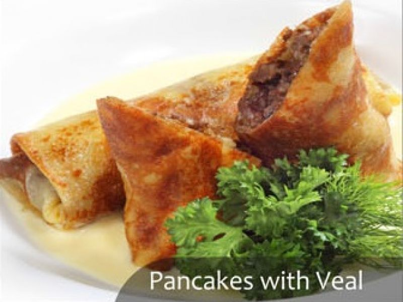 Pancakes with Veal