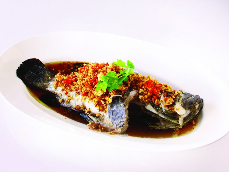 Steamed Fish with Chai Poh