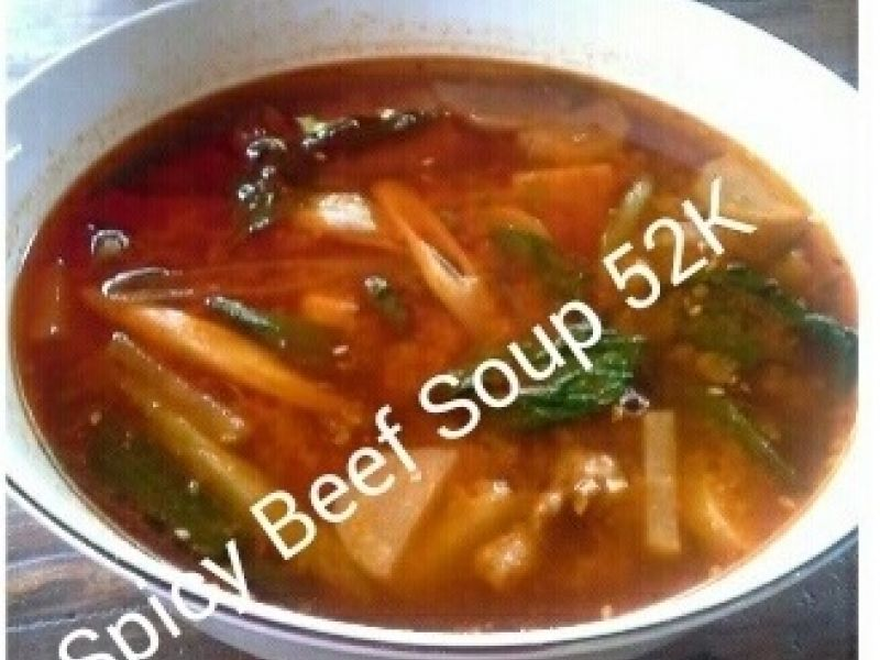 Spicy Beef Soup