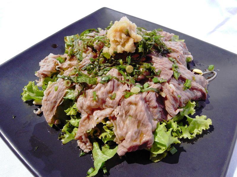 Japanese Pork Shabu Shabu Salad