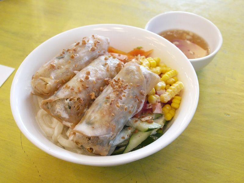 Vietnamese Coconut Cream Udon Deep Fried Vietnamese Vegetarian Spring Rolls(3pc)