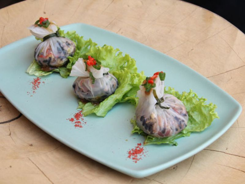 Scallop Black Rice Paper