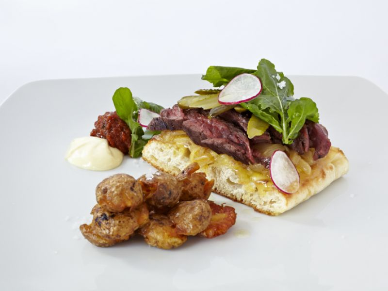 Sirloin Steak Sandwech (lunch menu)