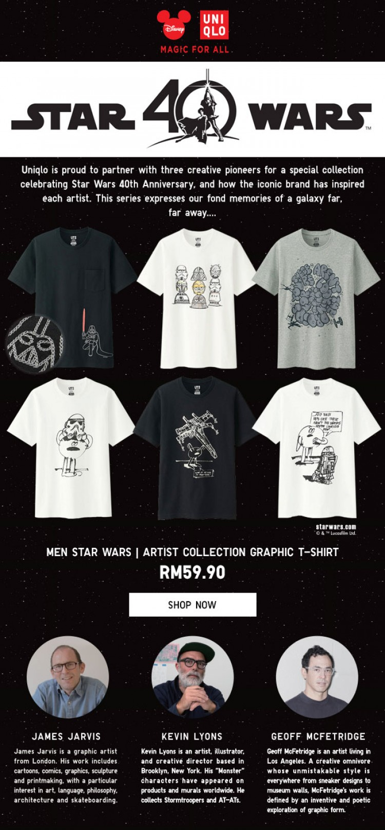 Uniqlo Online Store Early Launch On Star Wars Artist Collection