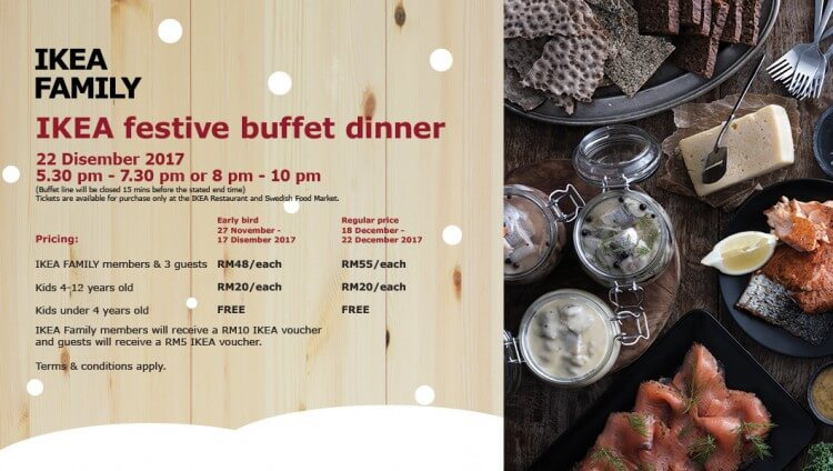Festive Buffet Dinner Promotion For Ikea Family Loopme Malaysia