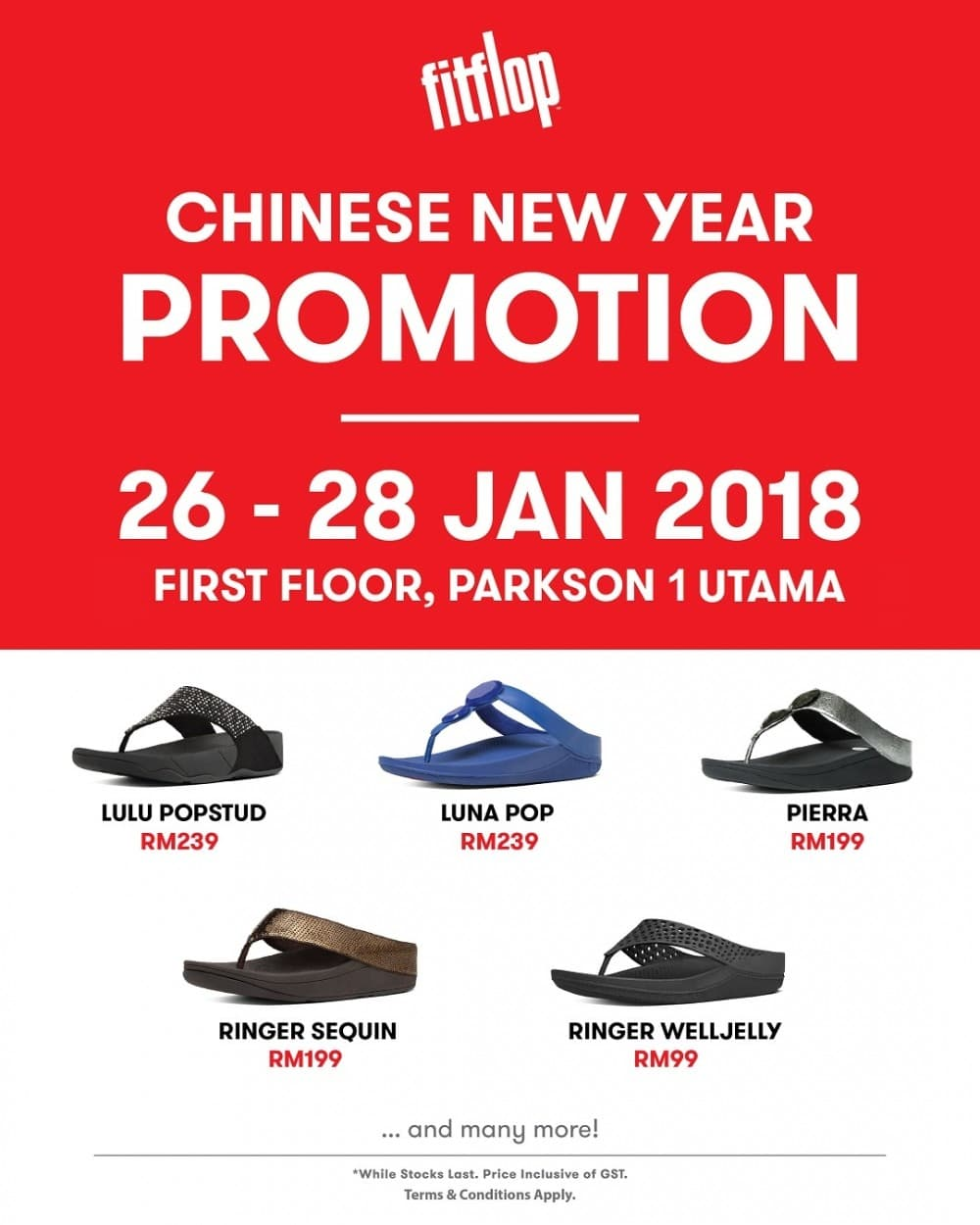 aefc001106b336 FitFlop Chinese New Year Promotion at Parkson 1 Utama
