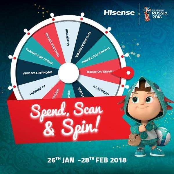 Hisense Spend, Spin & Win Contest | LoopMe Malaysia