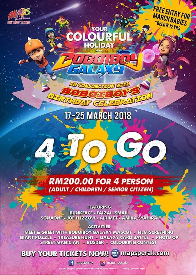 Your Colourful Holiday With Boboiboy Galaxy At Maps Loopme Malaysia
