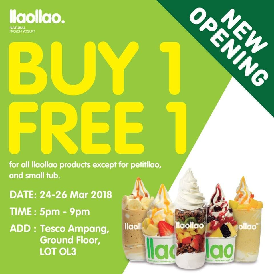 Llaollao tesco ampang opening promotion loopme malaysia solutioingenieria Image collections