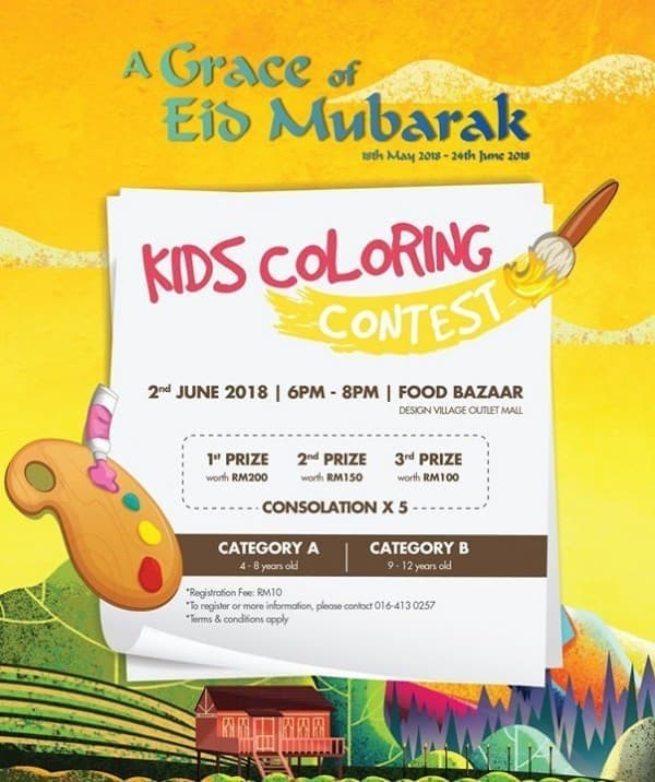 Design Village Kids Coloring Contest | LoopMe Malaysia