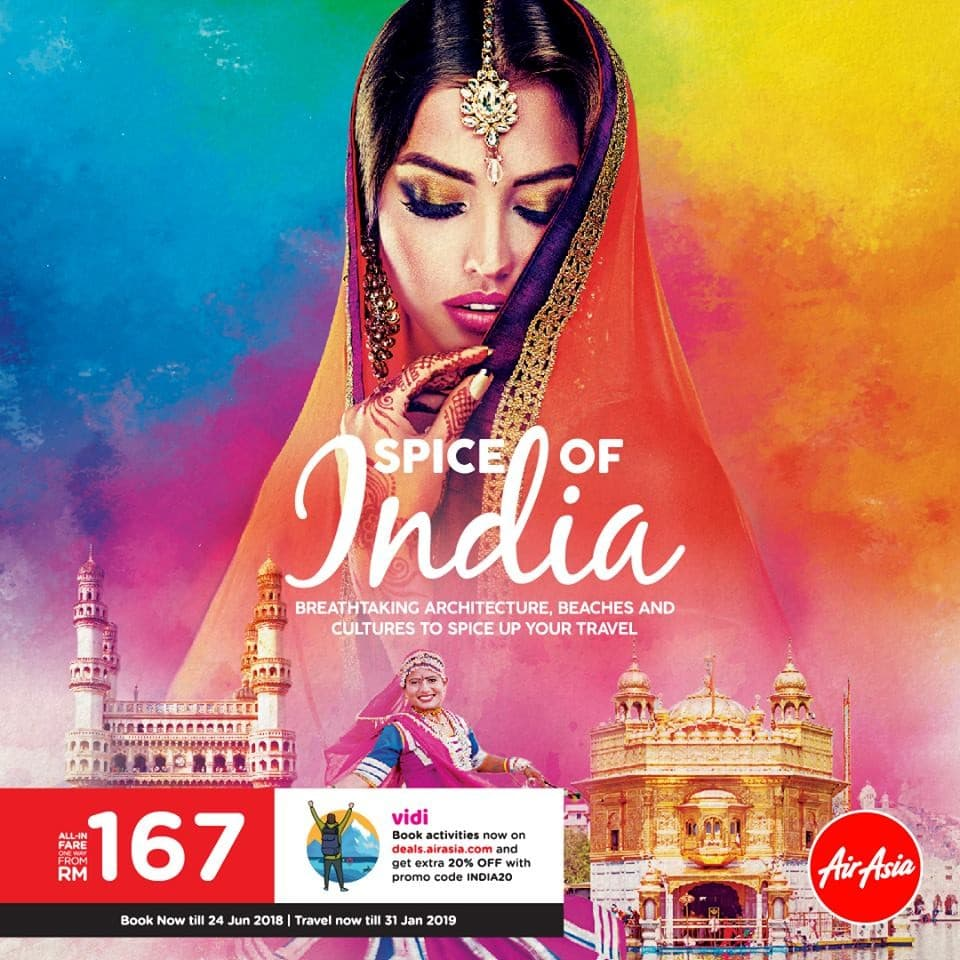 Airasia Spice Of India Promotion Loopme Malaysia Ticket  Air Asia Periode 2018 2019