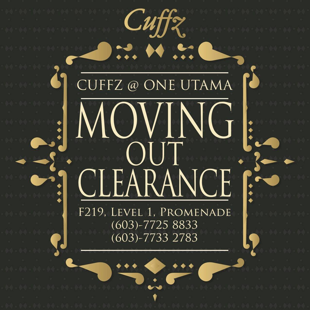 91795569f25a40 Cuffz 1 Utama Moving Out Clearance