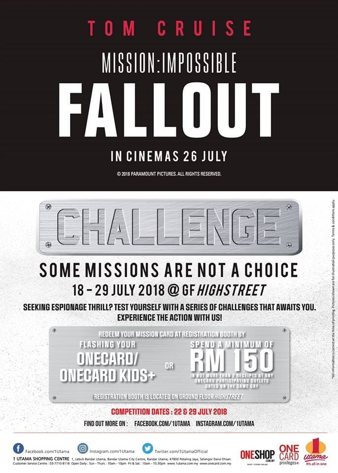 429b5a98396390 1 Utama Mission  Impossible - Fallout Challenge Event