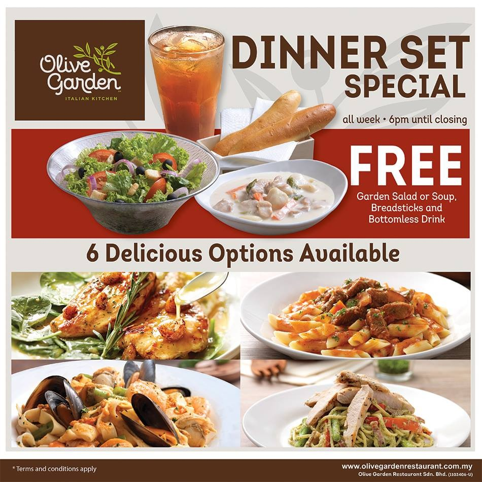 Olive Garden Dinner Set Special Promotion Loopme Malaysia