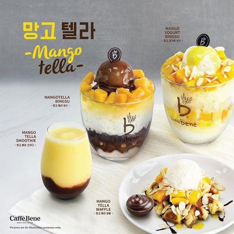 caffe bene , caffe bene gurney paragon , gurney paragon , bingsu , new seasonal menu , mangotella bingsu , mango yogurt bingsu , mangotella waffle , mangotella smoothie , lyana ishak