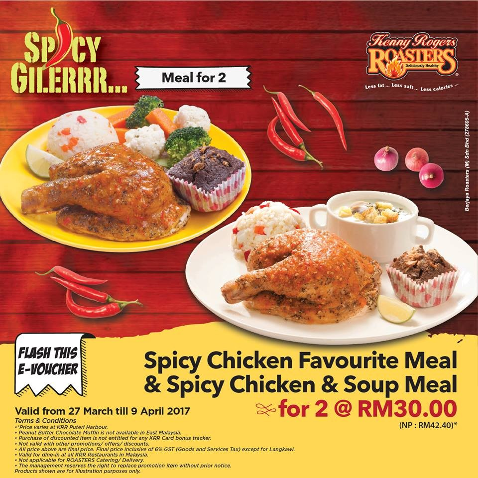 Kenny Rogers ROASTERS e-Voucher Promotion - Meal for 2 ...
