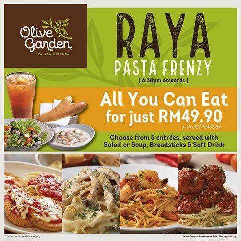 Olive Garden Raya Pasta Frenzy Promotion Loopme Malaysia