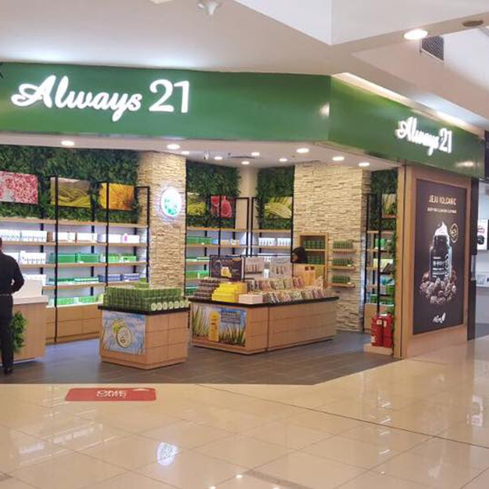 91239d483e5653 New Always 21 Store at 1 Utama
