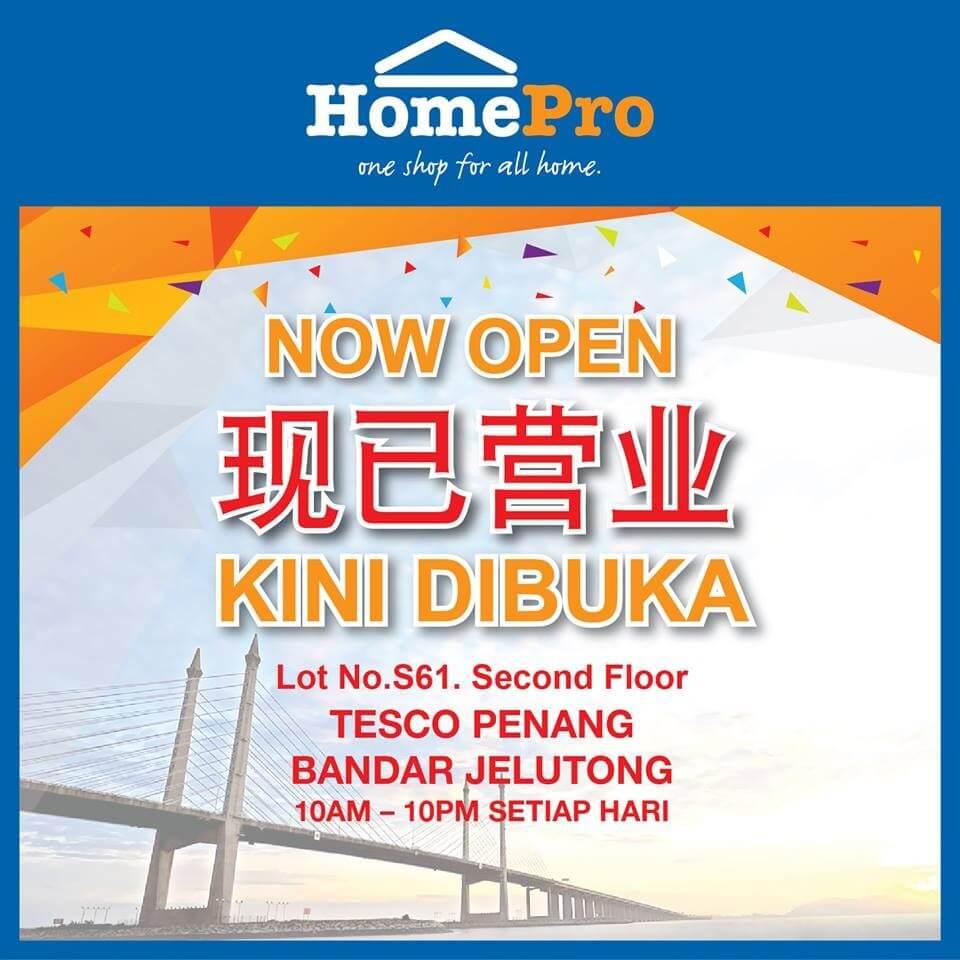 New HomePro Store At Tesco Penang