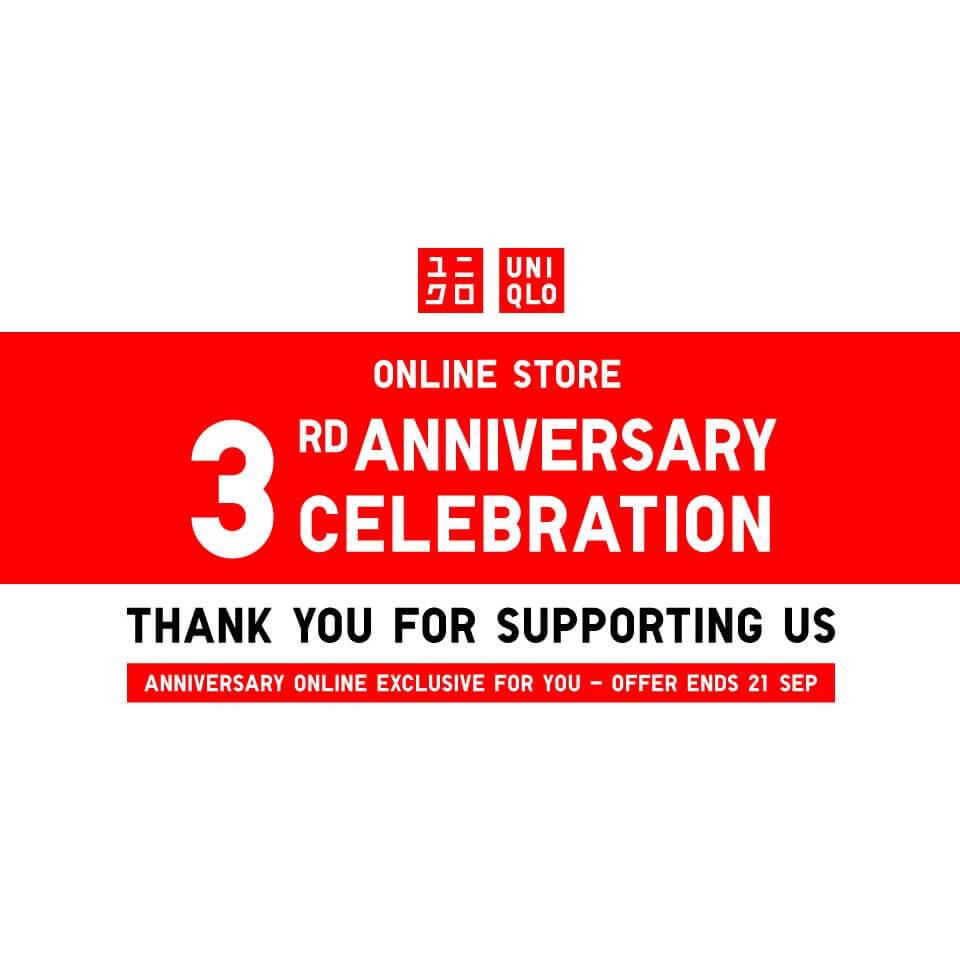 3819b48585c78 UNIQLO Online Store 3rd Anniversary Celebration Promotion