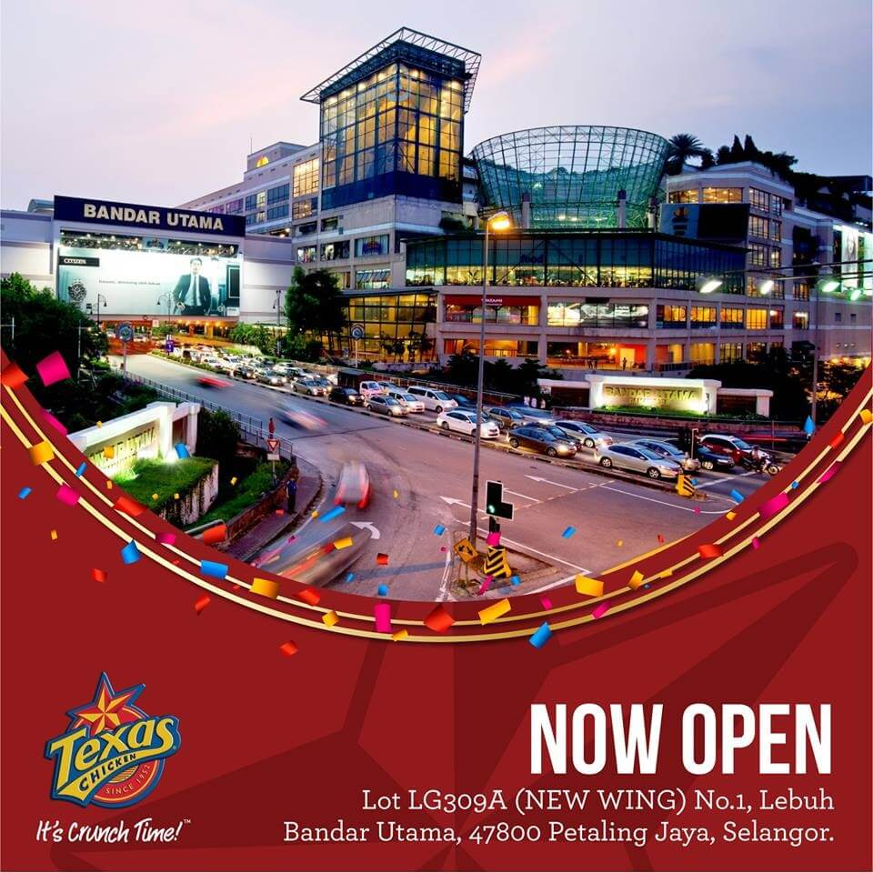 e1387a6e2a7055 New Texas Chicken Restaurant at 1 Utama