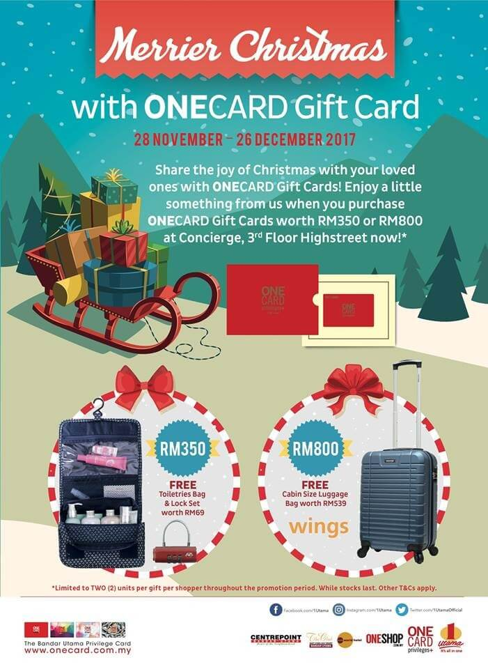 onecard christmas gift card promotion loopme malaysia - Christmas Gift Card Deals