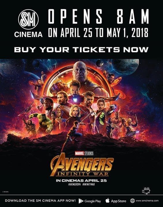 Buy your tickets NOW! Avengers: Infinity War showing this ...