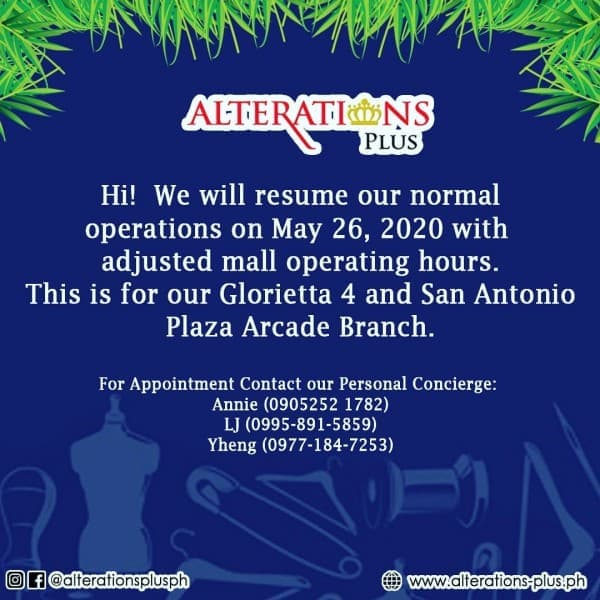 Alterations Plus Ph Announcement Loopme Philippines