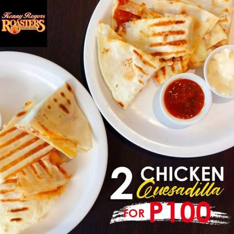 Chicken Quesadilla Offer at Kenny Rogers | LoopMe Philippines