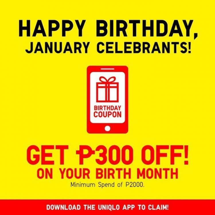 Uniqlo Promo For January Celebrants Loopme Philippines