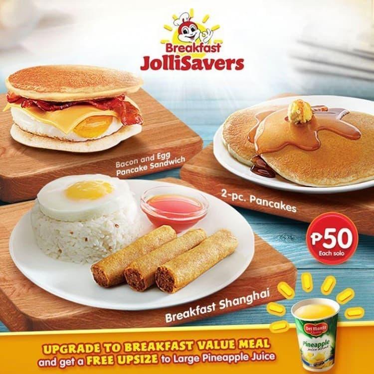 Breakfast Jollisavers Promo By Jollibee