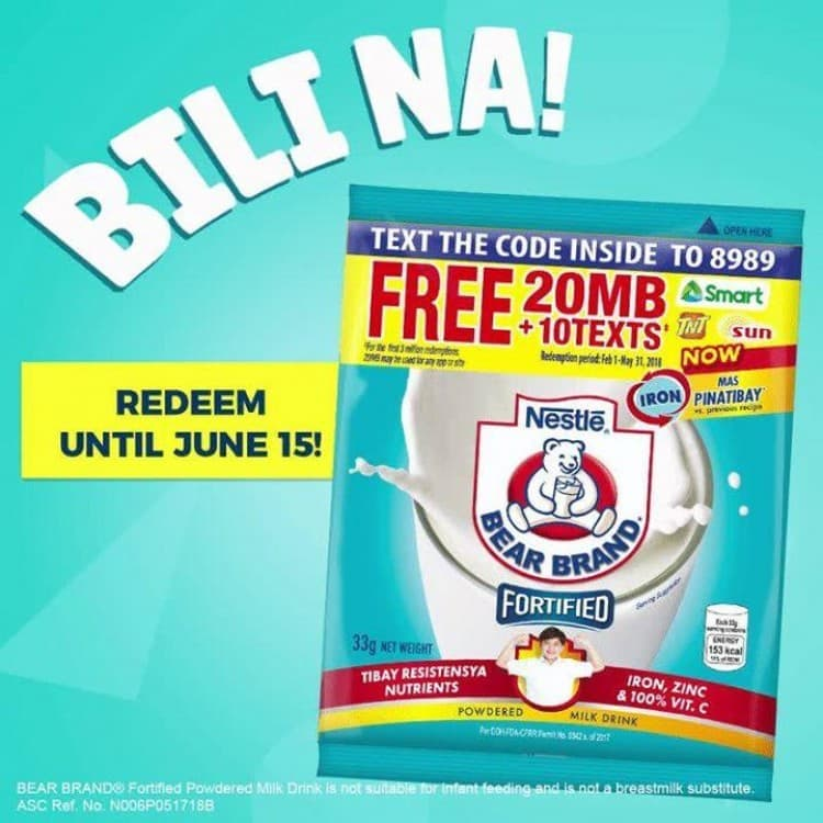 FREE 20MB+10 Texts with Bear Brand | LoopMe Philippines