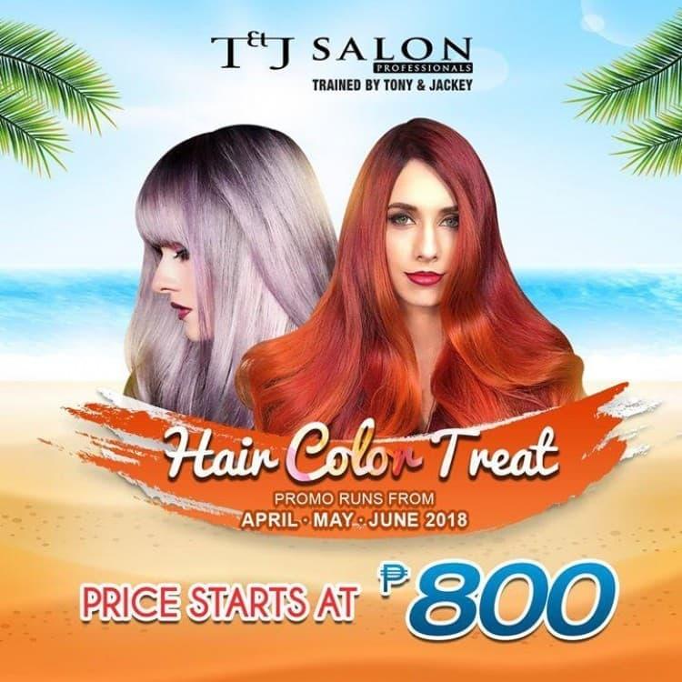 Hair Color Treat At Tj Salon Loopme Philippines