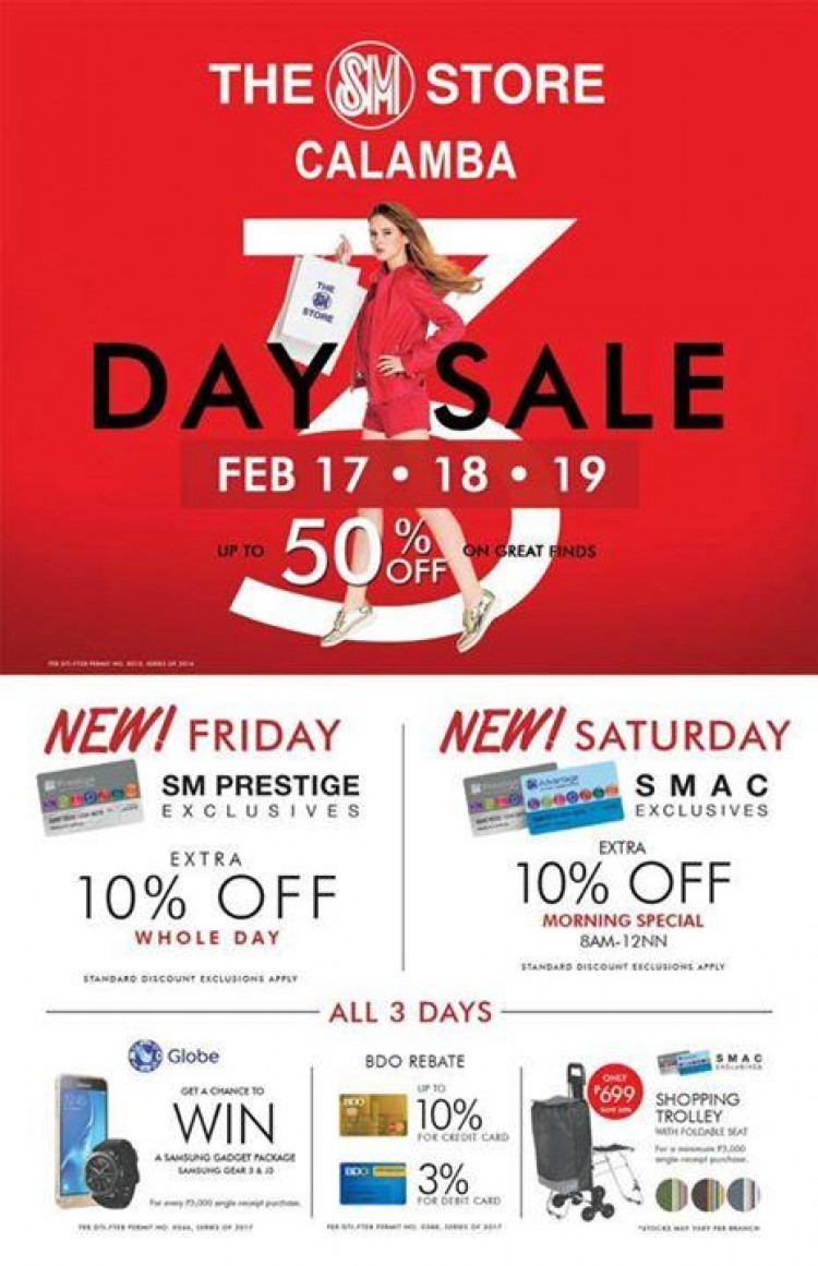 3 Day Sale at SM City Calamba | LoopMe Philippines